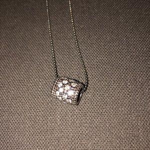 Lia Sophia Silver and Diamond pendent necklace